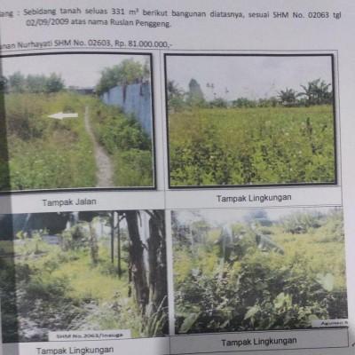 Mandiri Kanwil Papua: tanah luas 331 m2 SHM 2063, Kampung Inauga, Distrik Mimika Baru, Kab. Mimika
