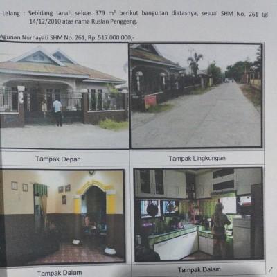 Mandiri Kanwil Papua: tanah luas 379 m2 berikut bangunan rumah di atasnya SHM 261, Wonosari Jaya, Mimika Baru, Mimika