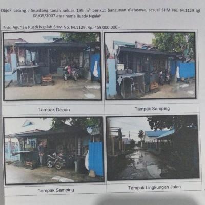 Mandiri Kanwil Papua: tanah luas 195 m2 berikut bangunan rumah di atasnya SHM M.1129, di Mandala Jaya, Merauke