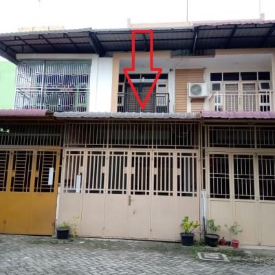 Bank Permata-Tanah seluas 64 m2 dan bangunannya di Komp. Marelan Center Point Blok E No.9, Rengas Pulau, Kota Medan